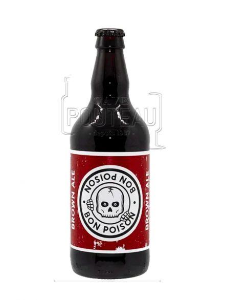 Bière bon poison brown ale - 50 cl - microbrasserie bon poison