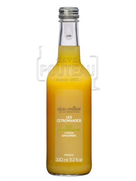 CITRONNADE CITRON-GINGEMBRE BIO - 33 CL - ALAIN MILLIAT