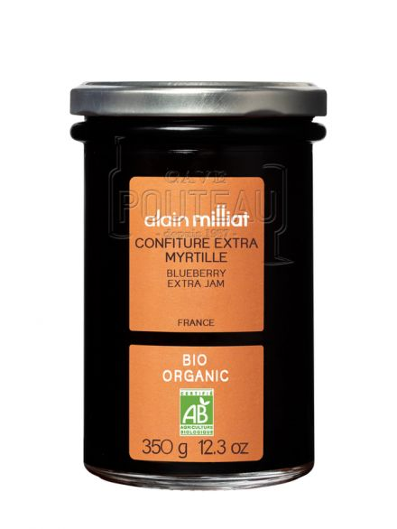 CONFITURE EXTRA BIO MYRTILLE - 350 GR - ALAIN MILLIAT