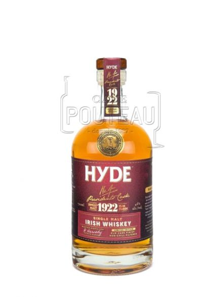 Whisky hyde n°4 - single malt - 6 ans rum finish - irelande - 70 cl - 46%
