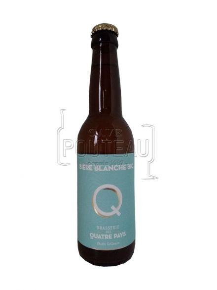 Bière la quatre pays blanche - 33 cl - brasserie des quatre pays